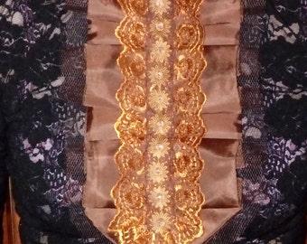 1 Brown collar for feminine, romantic, confident women