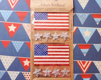 American flag stickers by Jolee's Boutique