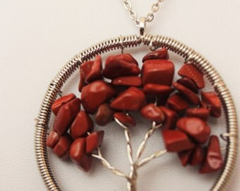 Tree Of Life Pendant in Coral