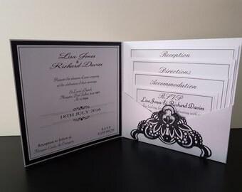 Retro Deco Opulent Collection - Pocketfold invitation