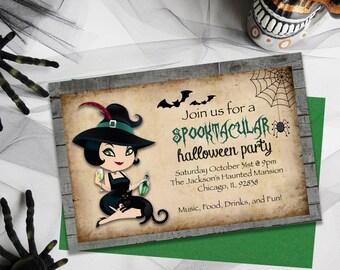 Adult Halloween Invitations, Party Invitations, Halloween Party Invites, Halloween, Adult Party, Party Invites, Witches Invitations