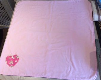 Pretty Fleece Backed Pram/Crib Cover
