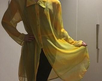 Vintage Sheer Shirt Dress