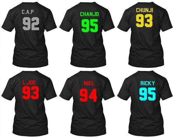 pretty nice 690b8 2920f TEEN TOP Chibi Jersey T-Shirt with Year of by WhatchamaTreasures new