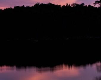 Reflection - sunset photography