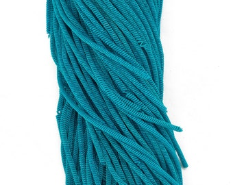French Metallic Stiff Copper Bullion For Embroidery Work - 100 Gram Packet - Sea Blue in color