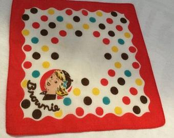 Brownie Hankie Handkerchief