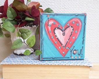 Heart Swarovski Canvas Print