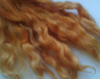 Natural Wavy Mohair for Reborns, Blythe, puppets, dolls, trolls - - 10Grams Uniquely Hand dyed in our own workshop