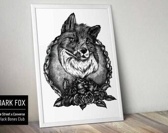 Sérigraphie - Illustration - Dark Fox
