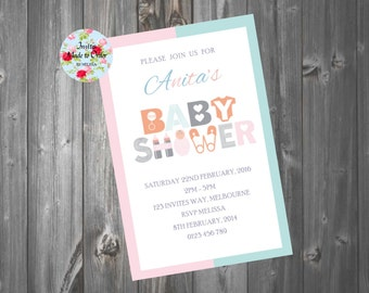 Baby Shower Invitation Boy or Girl