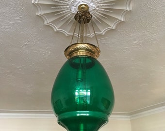Green light shade for candles