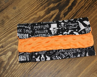 Halloween Burp Cloth, Double Double Toil and Trouble