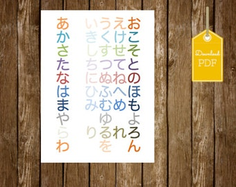 Japanese 【Package deal】Alphabet Hiragana and Katakana Printable- ひらがな & カタカナ表 日本語 ダウンロード