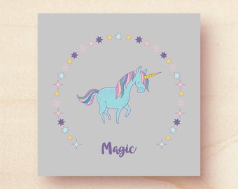 Unicorn printed card