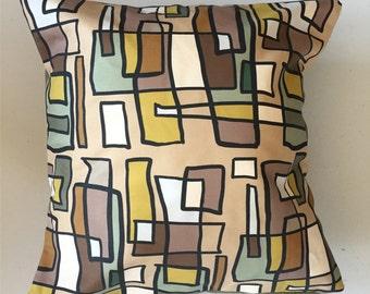 Bright Lights Big City Decorative Pillow-16x16-Throw Pillow-Pillow Cover-Neutral-Interior-Design-Fabric-Art-Decorating-Home Decor
