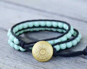 Grasslands Double Wrap Bracelet