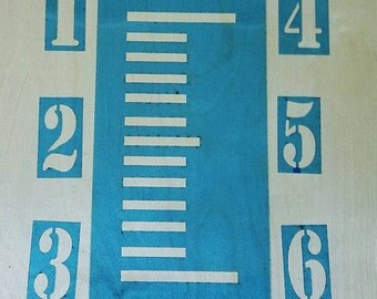Growth chart 1-6 ft stencil ruler for painting crafts