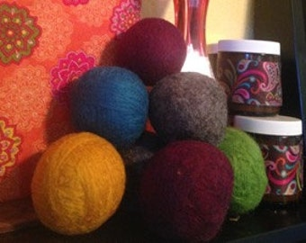 All Natural Wool Dryer Balls -set of 5