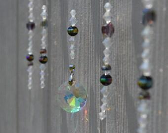 Hanging Beads Sun Catcher (Iridescent and Black)