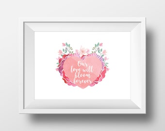 Beautiful romantic high quality A3 print