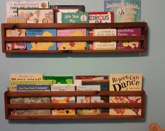 Baby Room Bookshelf PAIR - Rustic Wood