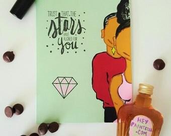Natural Hair Greeting Card - Anniversary Card