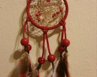 Red Handcrafted Dreamcatcher