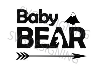 Baby Bear svg, png, dxf