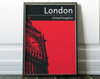 London Poster, Travel Print, Wall Art, Prints, Travel Poster, Big Ben Print, London Print, London Art, Travel Wall Art, Big Ben, Posters
