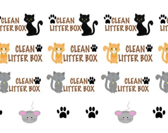 Clean Litter Box Sticker/ Planner Sticker