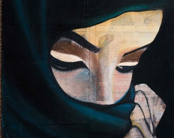 arabic women in teal