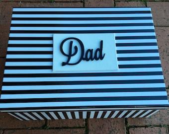 Fathers Day 'Dad' Gift  / Keepsake Box (Large - 35-40cm)