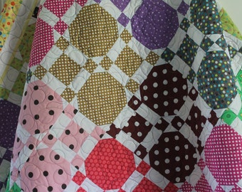 Polka Dot Quilted Throw