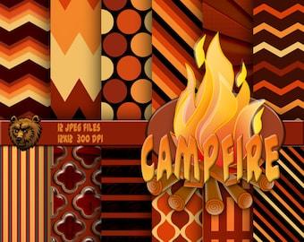 Fire digital paper, background, instant download