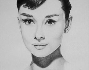 Audrey Hepburn drawing.