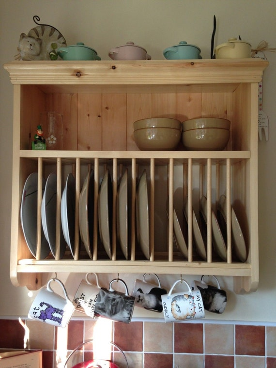 traditional vintage solid pine wall mounted plate by lswoodwork. Black Bedroom Furniture Sets. Home Design Ideas