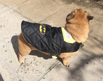 Waterproof dog coat - Black with yellow lining