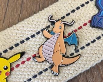 Sale IMPERFECT Pokemon Soft Enamel Pin - Dragonite-Discontinued