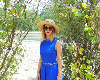 Cerulean blue dress