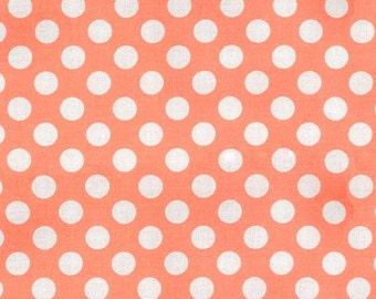 Peach Polka Dot -Ta Dot Fabric by Michael Miller