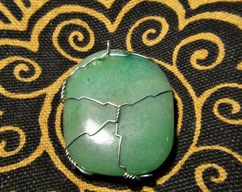 Jade Wire Wrap Necklace