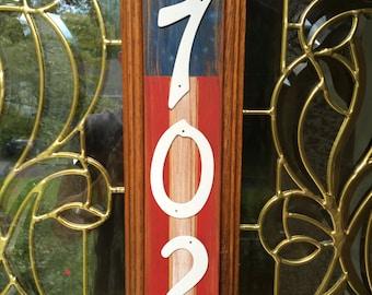 Rustic American Address Plaque