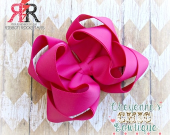 7 inch Solid color Boutique bow