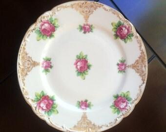 Vintage Altrohla Austria Rose Plate 1900's