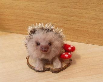 Hedgehog,Felt hedgehog,Needle felted Hedgehog,Wildlife,Woodland,Animal
