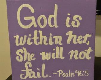 Psalm 46:5 canvas