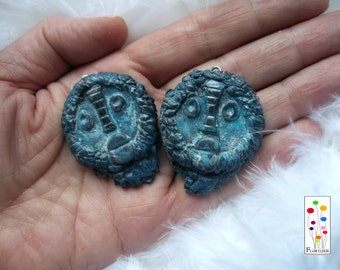 "Pendants ""African masks"" set of 2"