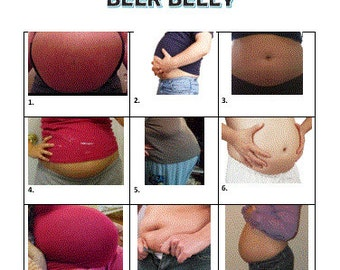 Baby Shower Game - Baby Belly or Beer Belly Game
