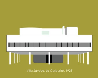 Villa Savoye art print